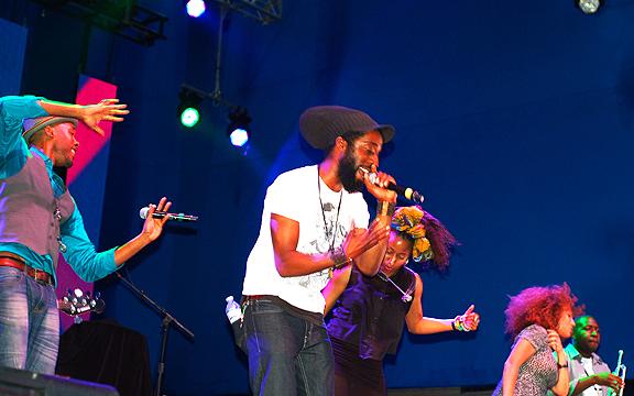 Montreal's Nomadic Massive performing at Luminato 2012.