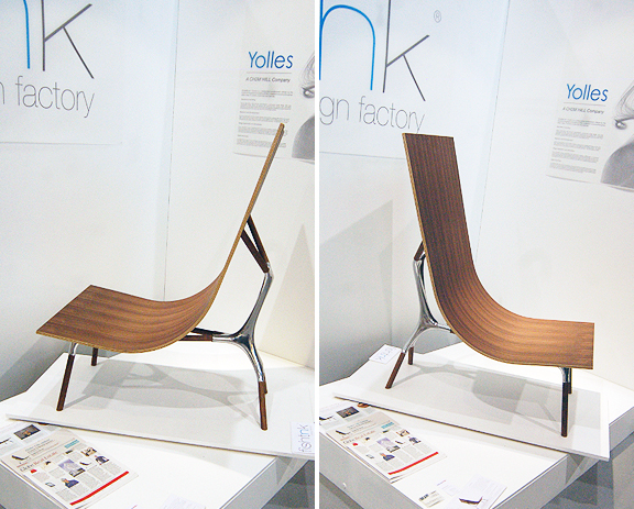 Wood and metal chair by designer Mani Mani