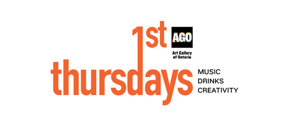 First Thursdays text and Art Gallery of Ontario's logo