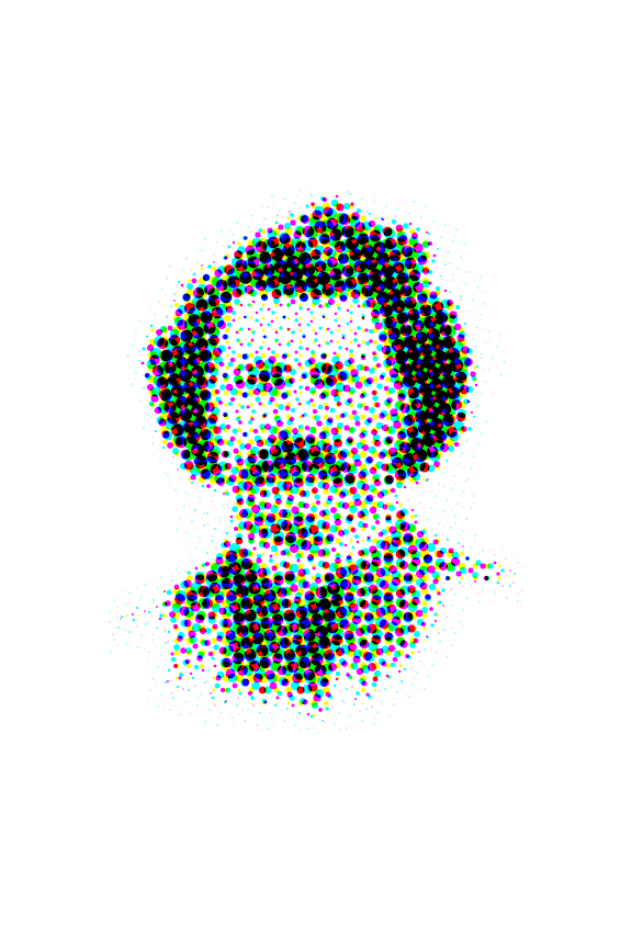 pixelated image of a portrait of Louis Riel