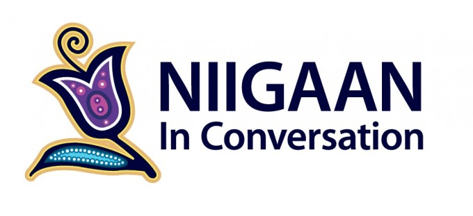 Flower logo saying Niigaan in Conversation
