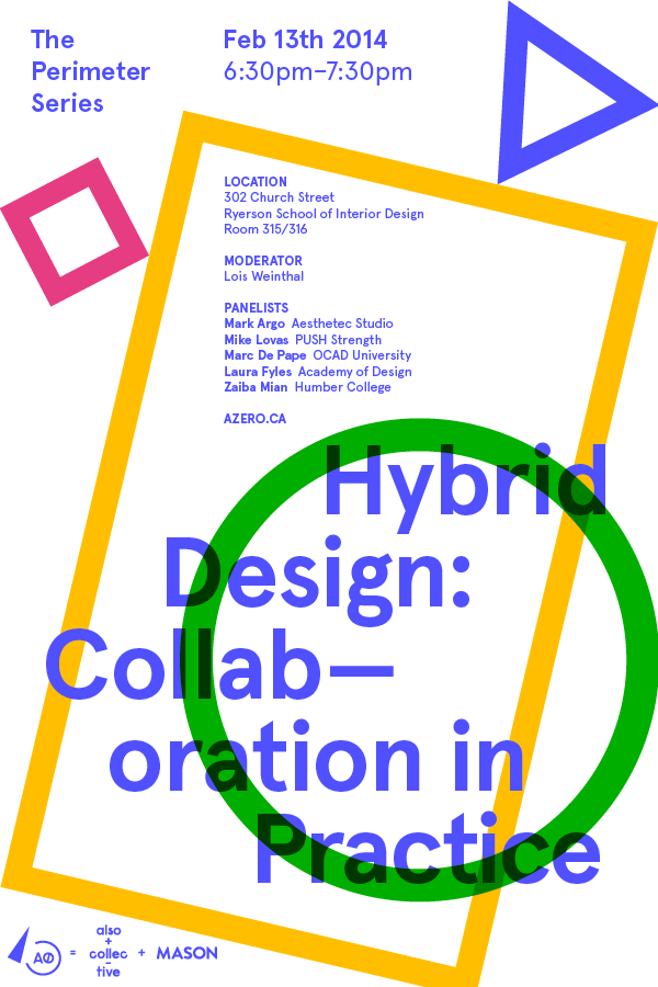 Ad for Perimeter Series talk on hybridity in design practice