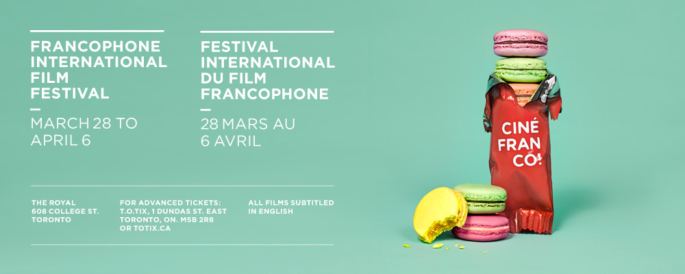 Advertisement for Cinefranco Film Festival