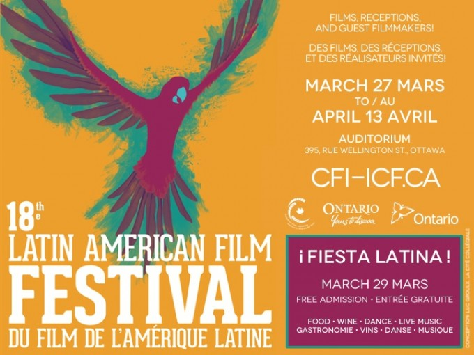 Poster for Latin American Film Festival in Ottawa