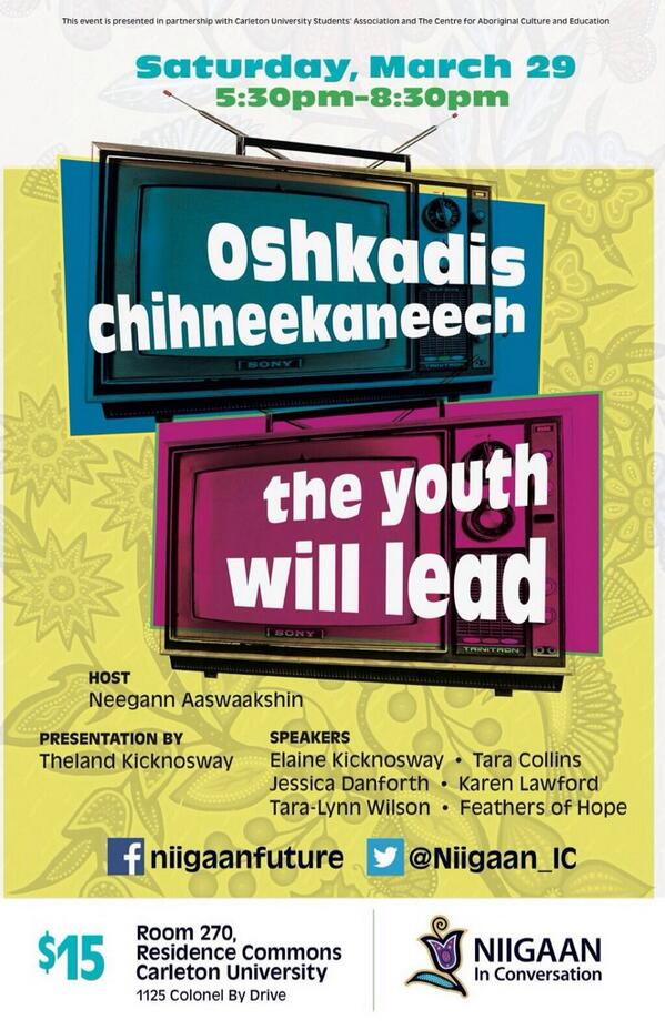 Poster for Niigaan Youth Event