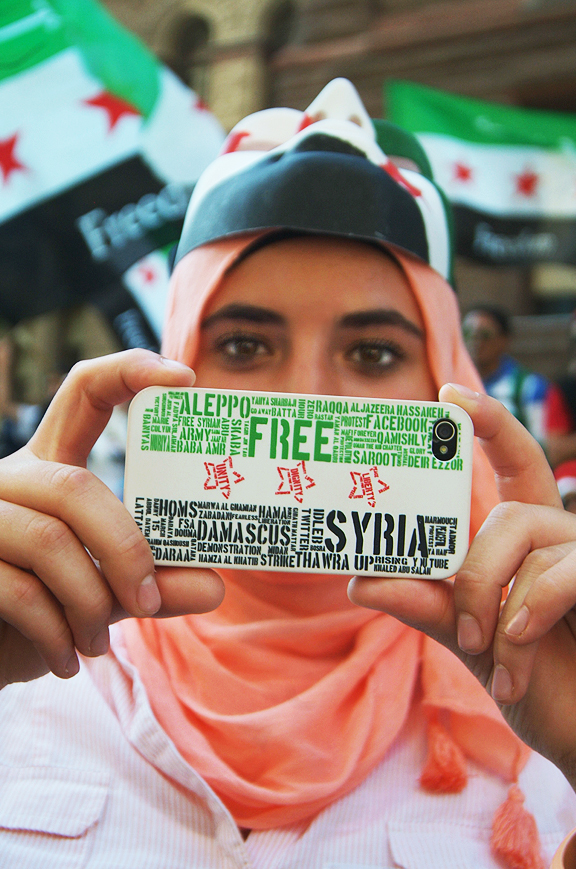 Syrian Protest, iPhone cover.