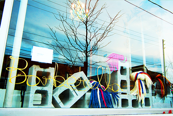 Storefronts along Dundas West for DO Design