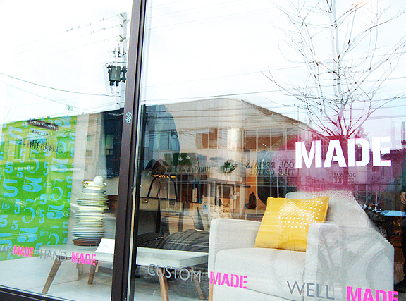 Storefront of MADE with Canadian designs