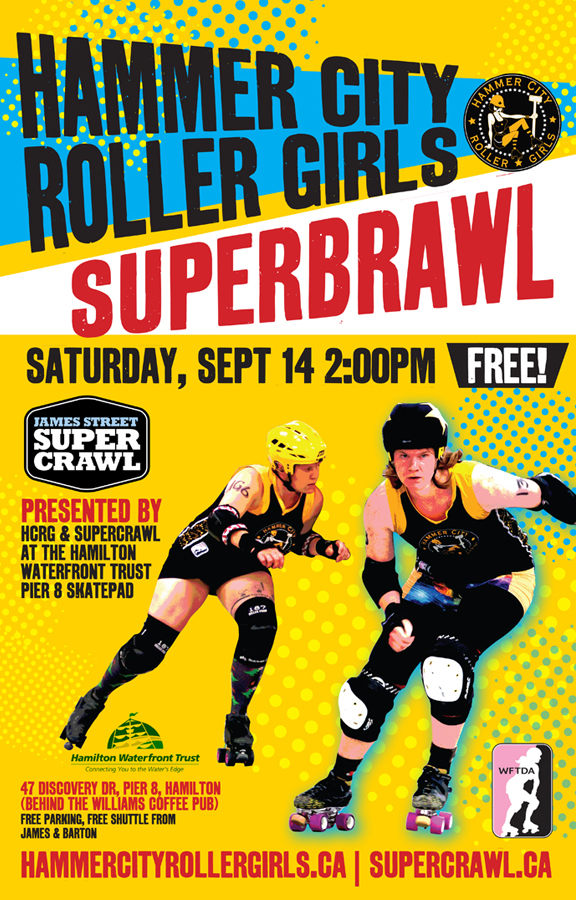 advertisement for women's roller derby